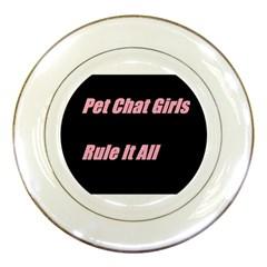 Petchatgirlsrule2 Porcelain Display Plate
