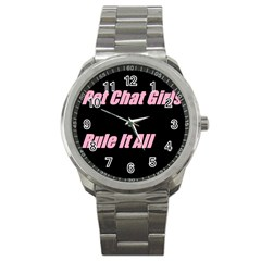 Petchatgirlsrule2 Sport Metal Watch