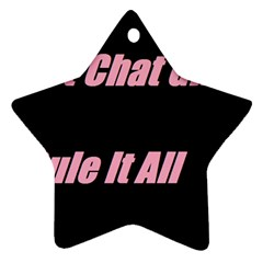 Petchatgirlsrule2 Star Ornament (two Sides)