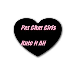 Petchatgirlsrule2 Drink Coasters 4 Pack (Heart)