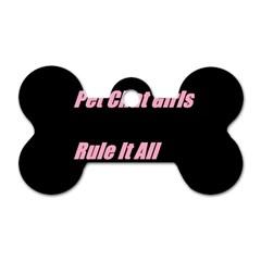 Petchatgirlsrule2 Dog Tag Bone (One Sided)