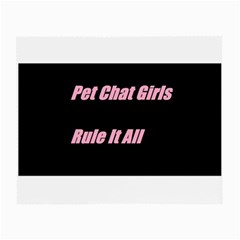 Petchatgirlsrule2 Glasses Cloth (small, Two Sided)