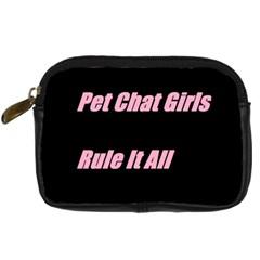 Petchatgirlsrule2 Digital Camera Leather Case