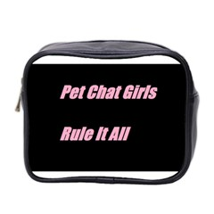 Petchatgirlsrule2 Mini Travel Toiletry Bag (two Sides)