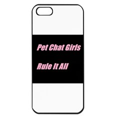 Petchatgirlsrule2 Apple iPhone 5 Seamless Case (Black)