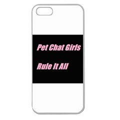 Petchatgirlsrule2 Apple Seamless Iphone 5 Case (clear)