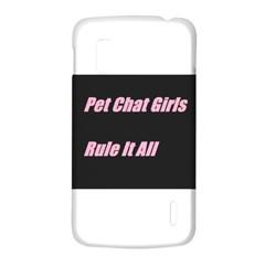 Petchatgirlsrule2 LG Nexus 4 E960 Hardshell Case