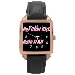 Petchatgirlsrule2 Rose Gold Leather Watch