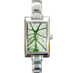 Leaf Patterns Rectangular Italian Charm Watch
