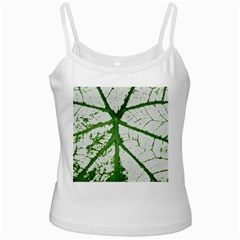 Leaf Patterns White Spaghetti Tank