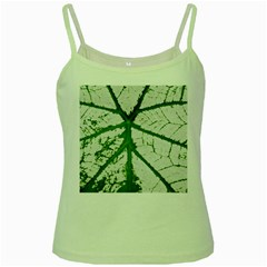 Leaf Patterns Green Spaghetti Tank