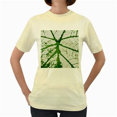 Leaf Patterns  Womens  T-shirt (Yellow)