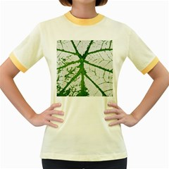 Leaf Patterns Womens  Ringer T-shirt (Colored)