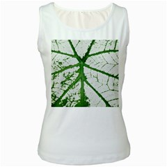 Leaf Patterns Womens  Tank Top (White)