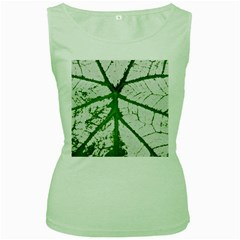 Leaf Patterns Womens  Tank Top (green)