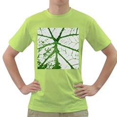 Leaf Patterns Mens  T-shirt (Green)