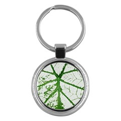 Leaf Patterns Key Chain (Round)