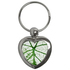 Leaf Patterns Key Chain (heart)
