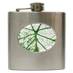 Leaf Patterns Hip Flask