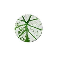 Leaf Patterns Golf Ball Marker 4 Pack