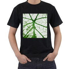 Leaf Patterns Mens' Two Sided T-shirt (Black)