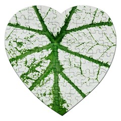 Leaf Patterns Jigsaw Puzzle (heart)