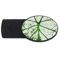 Leaf Patterns 4GB USB Flash Drive (Oval)
