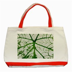 Leaf Patterns Classic Tote Bag (red)
