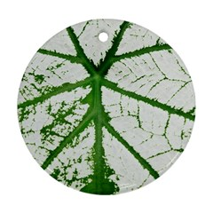 Leaf Patterns Round Ornament (Two Sides)