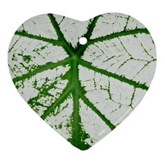 Leaf Patterns Heart Ornament (Two Sides)