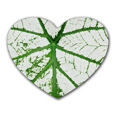 Leaf Patterns Mouse Pad (heart)