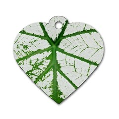 Leaf Patterns Dog Tag Heart (Two Sided)