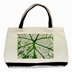 Leaf Patterns Twin-sided Black Tote Bag