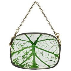 Leaf Patterns Chain Purse (One Side)