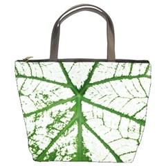 Leaf Patterns Bucket Bag