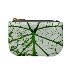 Leaf Patterns Coin Change Purse