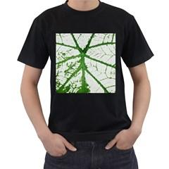 Leaf Patterns Mens' T-shirt (Black)