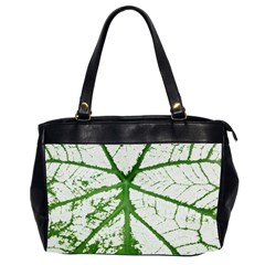 Leaf Patterns Oversize Office Handbag (Two Sides)