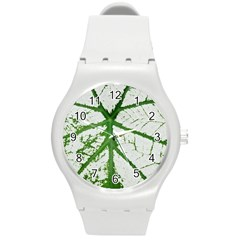 Leaf Patterns Plastic Sport Watch (medium)
