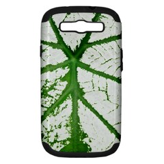 Leaf Patterns Samsung Galaxy S III Hardshell Case (PC+Silicone)