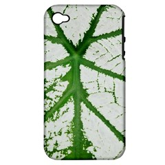 Leaf Patterns Apple iPhone 4/4S Hardshell Case (PC+Silicone)