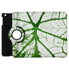 Leaf Patterns Apple Ipad Mini Flip 360 Case