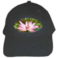 A Pink Lotus Black Baseball Cap