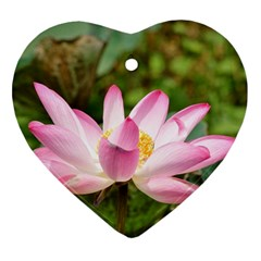 A Pink Lotus Heart Ornament