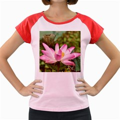 A Pink Lotus Women s Cap Sleeve T Shirt (colored)