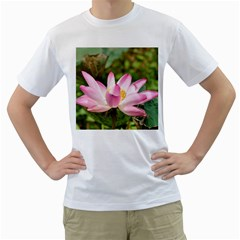 A Pink Lotus Mens  T-shirt (White)