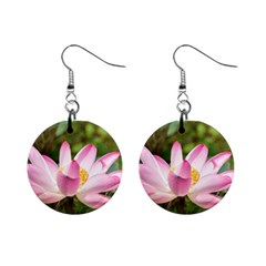 A Pink Lotus Mini Button Earrings