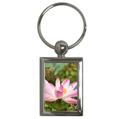 A Pink Lotus Key Chain (Rectangle)
