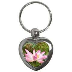 A Pink Lotus Key Chain (heart)