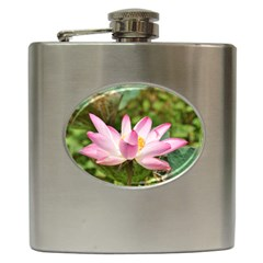 A Pink Lotus Hip Flask